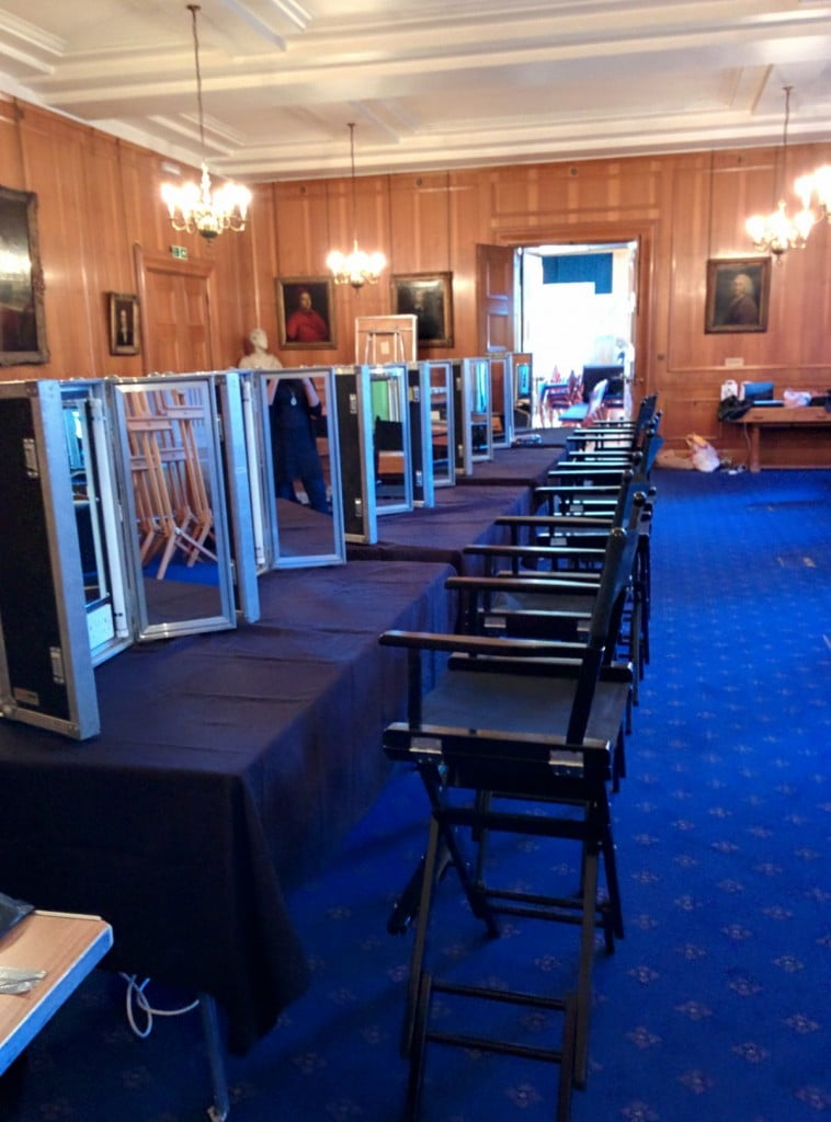 SET UP OF THE HAIR AND MAKE UP ROOM, WHICH WAS LATER TRANSFORMED INTO THE VIP ROOM